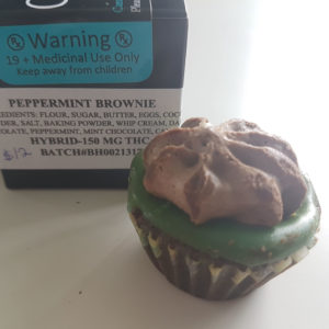 Buy cannabis-infused peppermint brownie Online